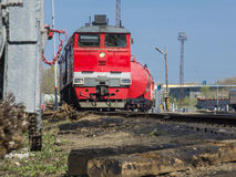 A moving freight train Royalty Free Stock Photography