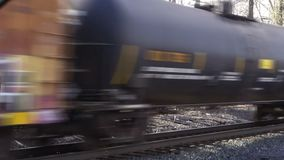 Moving freight train stock video footage