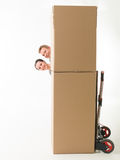 Moving fun Royalty Free Stock Image