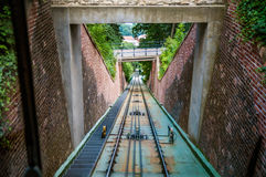 Moving funicular Stock Image