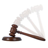 Moving gavel royalty free stock photo