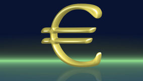 Moving golden euro stock footage
