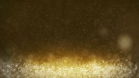 Moving golden particles abstract background. stock video