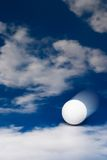 Moving golf ball Stock Photo