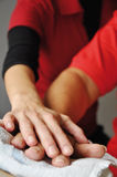 Moving hands. Motion Therapy as part of rehabilitation Royalty Free Stock Image