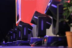 Moving head stage lights Stock Images