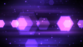 Moving Hexagon Shapes. Technology Background with abstract particles and hexagon shapes. 8K Ultra HD Resolution at 300dpi Stock Illustration