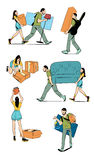 Moving home concept illustration Stock Photo
