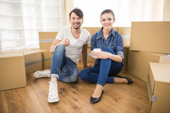 Moving home Stock Photos