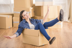 Moving home Stock Images
