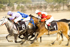 Moving of horse racing Stock Photo