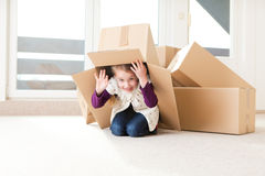 Moving house stock photos