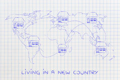 Moving house across the world, expat life Stock Image