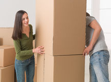 Moving house fun Royalty Free Stock Images