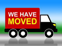 Moving House Represents Change Of Residence And Lorry. Moving House Showing Change Of Residence And Change Of Residence Royalty Free Stock Image
