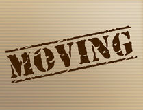 Moving House Shows Change Of Residence And Apartment. Moving House Meaning Change Of Address And Relocate Royalty Free Stock Photos