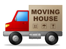 Moving House Shows Change Of Residence And Lorry Stock Images