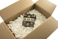 Moving the house Royalty Free Stock Image
