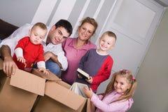 Moving hus royaltyfri fotografi