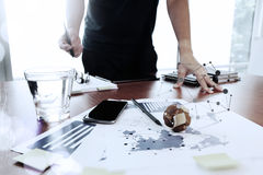 Moving Image of Business creative designer working Royalty Free Stock Photos