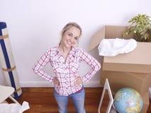 moving kvinna royaltyfri bild
