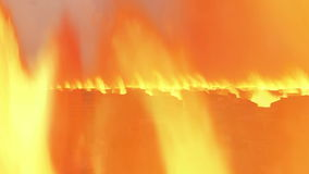 Moving Lava spiral climb 3d city scape stock footage