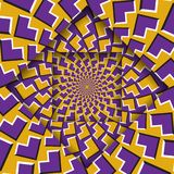 Moving layers with a circular pattern. Optical illusion background.  vector illustration