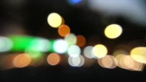 Moving light bokeh background stock video footage