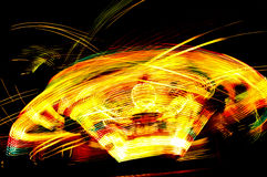 Moving lights. Abstract light lights circle night moving Royalty Free Stock Images