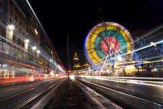 Moving Lights, Edinburgh Royalty Free Stock Photography
