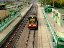 Moving locomotive Stock Photography