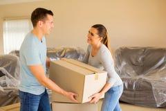 moving młodych par Fotografia Stock