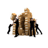 Moving men Royalty Free Stock Image