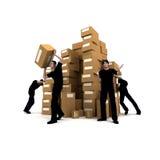 Moving men Royalty Free Stock Image