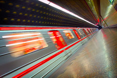 Free Moving Metro Train Stock Images - 58938034