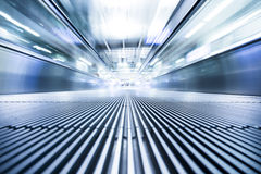 Moving modern escalator way Royalty Free Stock Image