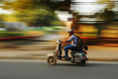 Moving motorbike, Old Delhi, India Royalty Free Stock Photography