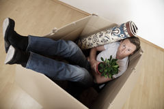 Moving Into A New Crate Royalty Free Stock Images