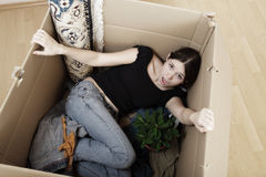 Moving Into A New Crate Stock Image