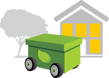 Moving and new environment. Icon Stock Photo