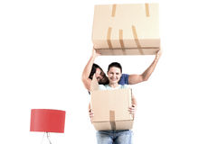 Moving into new home Stock Photos