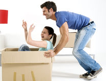 Moving into new home. Couple moving into new home Stock Photography