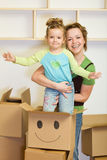 Moving into a new home concept Stock Photos