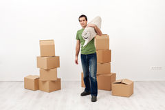 Moving into a new home concept Stock Photo