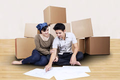 Moving into new home Stock Photo