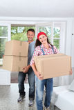 Moving in new house Royalty Free Stock Photos