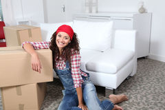 Moving in new house Stock Images