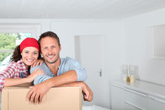 Moving in new house Royalty Free Stock Photography