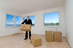 Moving into New House Stock Image