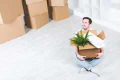 Moving in new house. Royalty Free Stock Photography